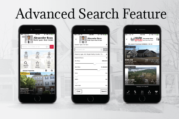 Mark spain real estate app launch takes home searching on for Advanced home search