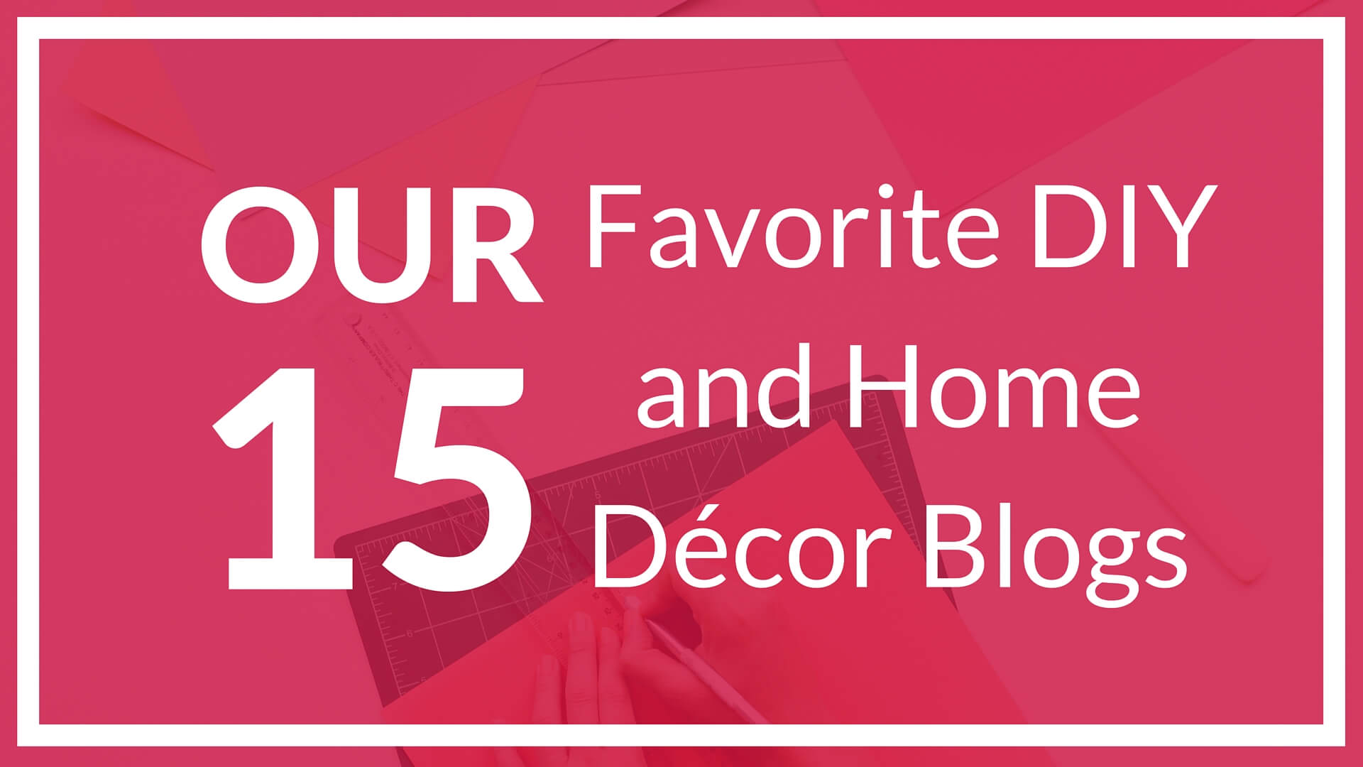 Our 15 favorite diy and home d cor blogs mark spain real for Blogs for home decor