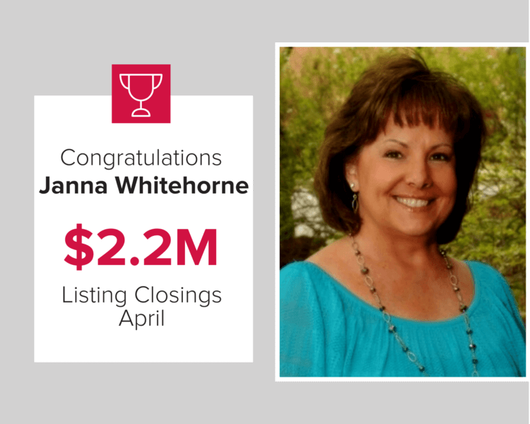 Jana Whitehorne was a top three Mark Spain Real Estate agent last month for new listings.