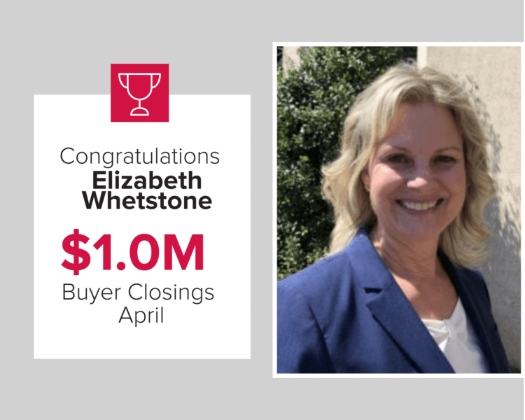 Elizabeth Whetstone was a top buyer agent in April 2020.