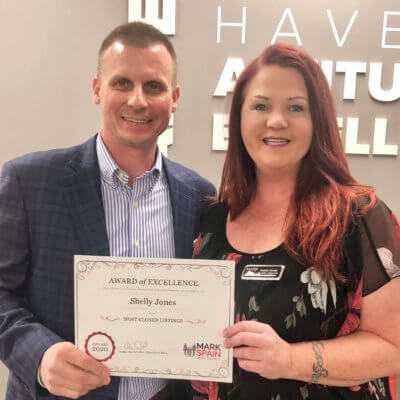 Shelly Jones joined Mark Spain Real Estate and tops best performing agents.