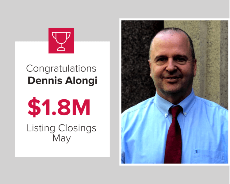 Dennis Alongi had over $1.8 million in closings during May of 2020