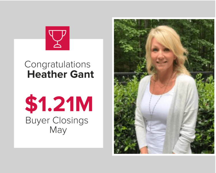 Heather Gant had over $1.21 million in buyer's closings during May 2020