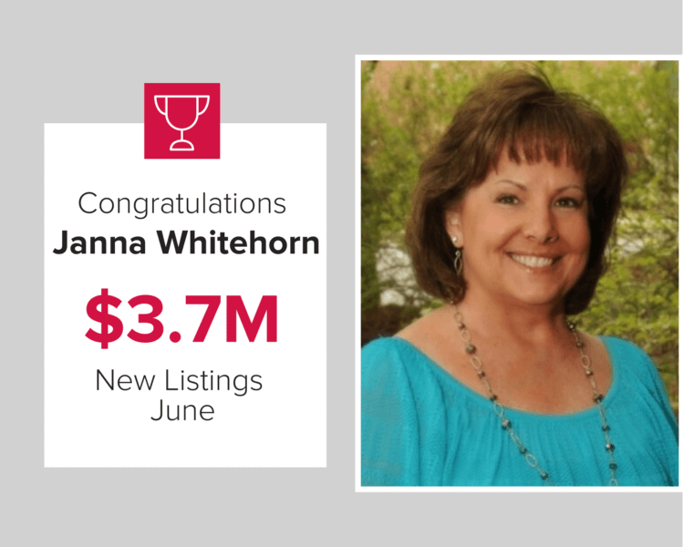 We are proud to award our exclusive listing agent, Janna Whitehorn for listing $3.7 million in n.ew homes last month
