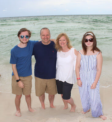 One of Dennis's passions outside of work is spending time at the beach with his family