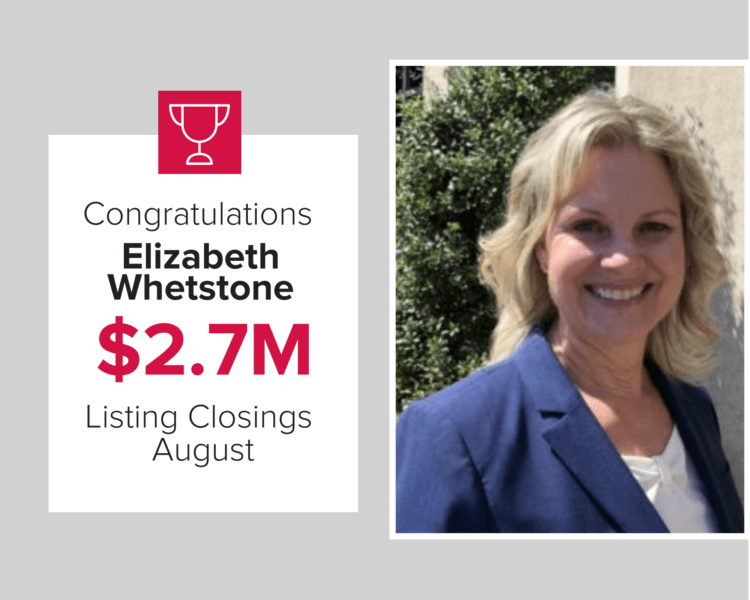 Elizabeth Whetstone closed on $2.7M of homes in August 2020
