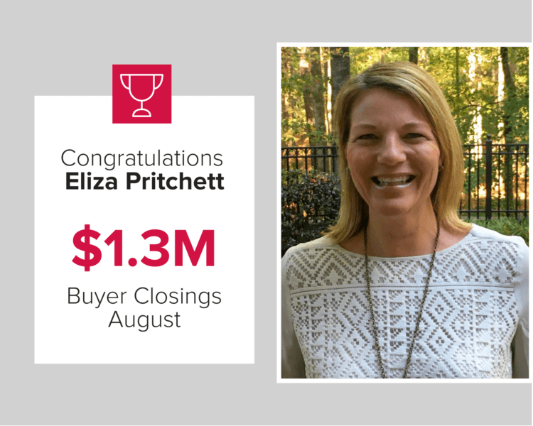 Eliza Pritchett was our second top agent for July for Buyer Closings