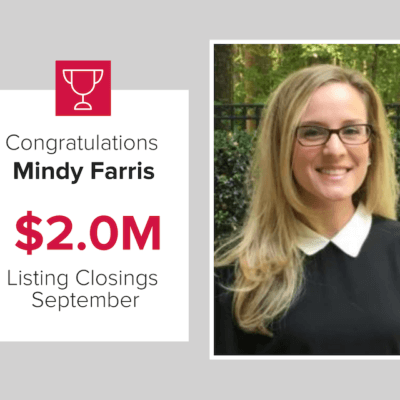 Mindy Faris closed $2 million in listings in September 2020.