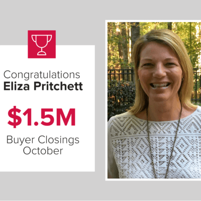 Eliza is a top agent for buyer closings October 2020