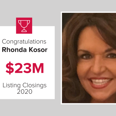 Rhonda was a top agent for 2020
