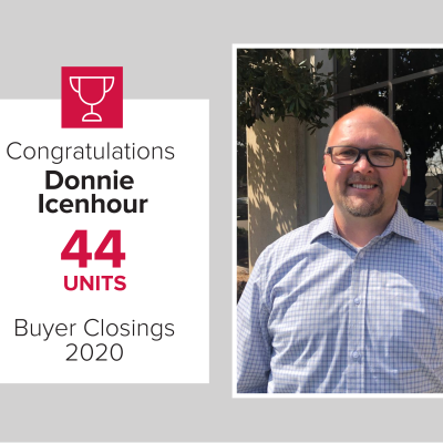 Donnie was our top Buyers agent in 2020