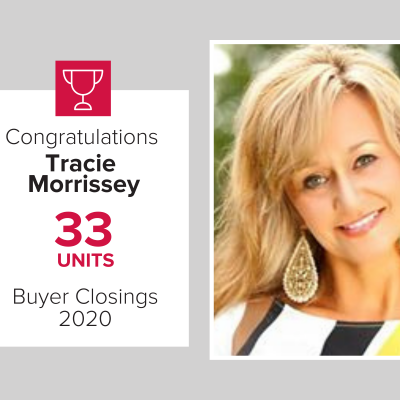 Tracie was our number 2 buy agent for 2020
