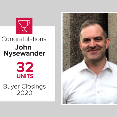 John was our number 3 buyers agent in 2020