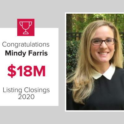 Mindy was the number 2 agent for 2020