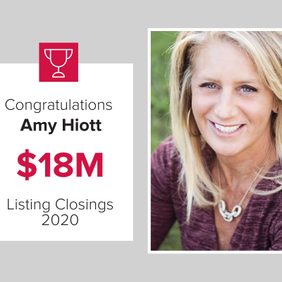 Amy was our number 3 agent for 2020