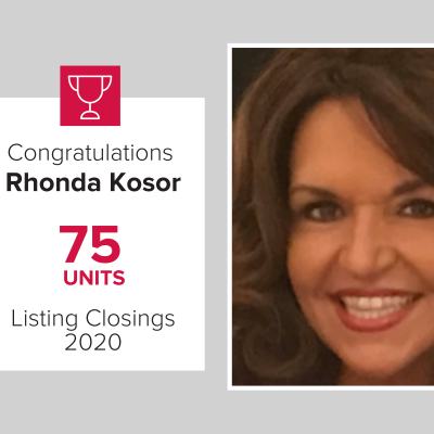 Rhonda was the number 1 agent in 2020