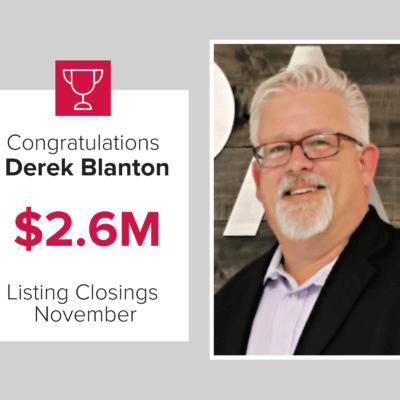 Derek was a top agent for November 2020