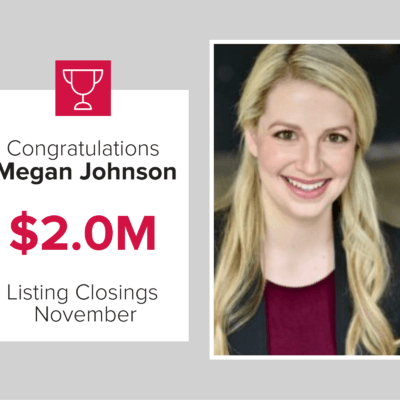 Megan was a top listing agent for November 2020