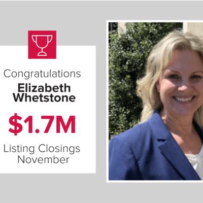 Elizabeth was a top agent for November 2020