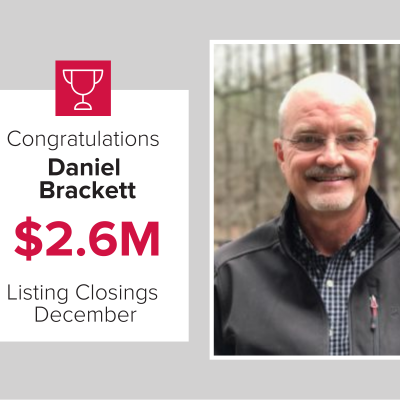 Daniel was the number 2 agent last month for new listings