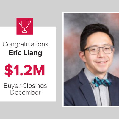Eric was a top buyers agent for December 2020