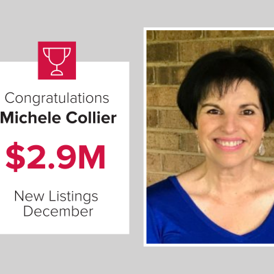 Michele was our top agen for new listings in December 2020