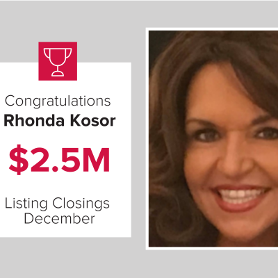 Rhonda was a top agent for December 2020