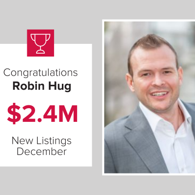 Robin was our number 3 agent for new listings in December 2020