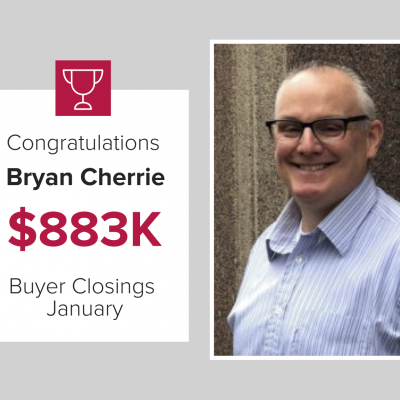 Bryan Cherrie was a top Buyer Agent for January 2021