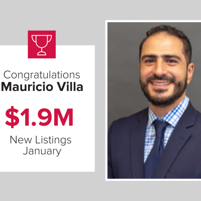 Mauricio was a top agent at Mark Spain Real Estate last month