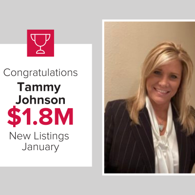 Tammy Johnson listed over $1.8M in homes last month.
