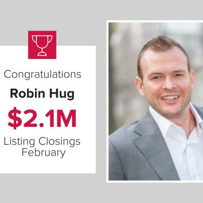Robin hug closed over $2.1M in homes last month