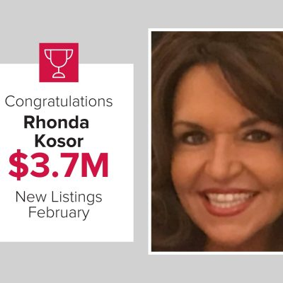 Rhonda was the number 2 agent for new listings in February 2021
