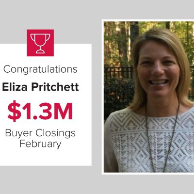 Eliza was the number one Exclusive Buyer Agent for the month of February.