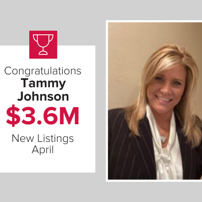 We are proud to honor Tammy as a top agent for new listings last month.