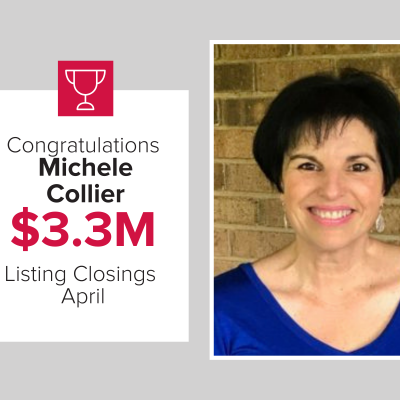 Michele was a top agent for new listing and closings last month!