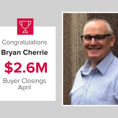 Bryan was the number 1 Exclusive Buyer's Agent in April 2021.