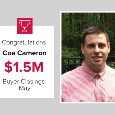 Coe Cameron closed over $1.5M for Mark Spain Real Estate in May 2021!