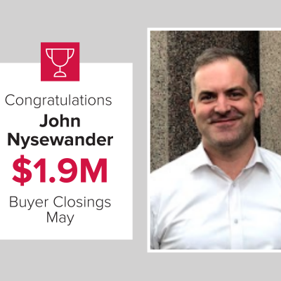 John Nysewander closed over $1.9M for Mark Spain Real Estate in May 2021!