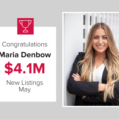 Maria Denbow had new listings worth over $4.1M in May.