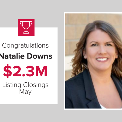 Natalie Downs had the most Listing Closings for Mark Spain Real Estate in May.